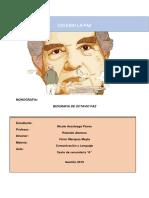 Monografia de Octavio Paz
