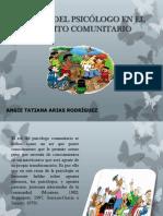 rol del psicologo en el campo comunitario