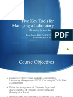 Five Key Tools for Managing a Laboratory