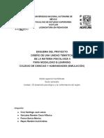 Esquema Del Proyecto Diseño Instruccional Psicologia II para el colegio de ciencias y humanidades.