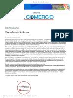 Escuelas Del Infierno _ El Comercio