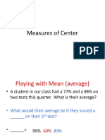 measures of center daytwo