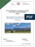 dimensionnement solaire d'Aéroport