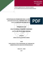 Estrategias de Promoción Para La Exportación tesis