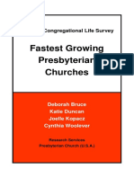 Growing Presbyterian Churches Report 2012 6-5-12