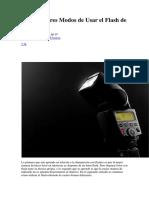 DZoom Jose Luis Rodriguez - Los 4 Mejores Modos de Usar El Flash de Rebote