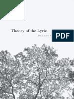 2017 Culler, Jonathan D. - Theory of the Lyric-Harvard University Press (2017)