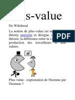 Théorie de La Plus Value