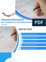 Signing Document PowerPoint Template