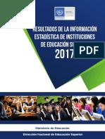 Resultados de La Informacion de IES 2017