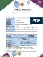 Guía de Actividades y Rúbrica de Evaluación - Paso 3 – Diagnóstico de La Educación Inclusiva