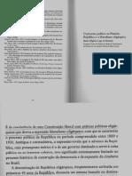 O Processo Político Na Primeira República e o Liberalismo Oligárquico.
