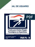Manual de usuaio PAR P1 R
