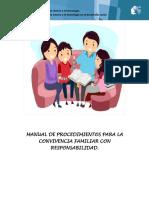 Manual de Procedimientos Para La Convivencia Familiar Con Responsabilidad
