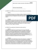 Actividad 4: Comunidades económicas internacionales  Unidad ll: Análisis de los principales acuerdos y tratados comerciales a nivel mundial y sus barreras