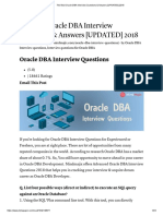 Oracle DBA Interview