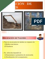 Excavación de Taludes