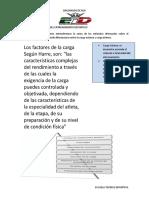 Conceptos de La Carga Del Entrenamiento Deportivo..