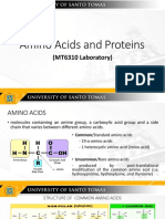 Post Lab Amino Acids and Proteins