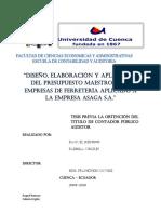Diseño Elaboracion de Presupuesto Maestro Universidad de Cuenca
