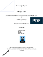 Major Project Report Format