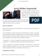 Tips on Preparing Written Arguments