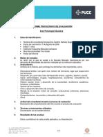 Formato Informe Evaluación Ps Actualizado