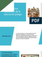 Principios educativos de la educación griega