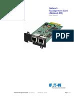 Eaton Network Card Ms User Guide Manual