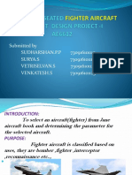 Design of 2 Seated Fighter Aircraft