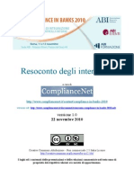 Resoconto Compliance in Banks 2010