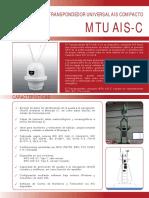 MTU AIS C Transpondedor Universal AIS Compacto