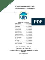 Laporan Praktikum Bioklin pemeriksaan SGPT dan SGOT