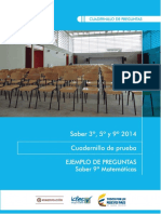 Ejemplos de Preguntas Saber 9 Matematicas 2014 v2