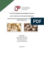 Exportación de envases biodegradables