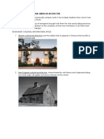 Colonial and Post Colonial American Architecture