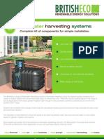British Eco Rainwater Harvesting