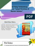 """Nilai-Nilai Yang Terkandung Dalam Novel """"Sekali Peristiwa Di Banten Selatan"""""""