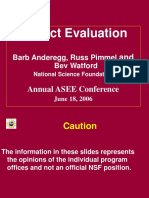 Project Evaluation ASEE 2006 1