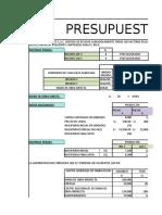 Presupuestos Costos - Perez Torres Jose Alonso