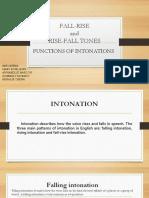 Functions of Intonatios