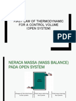 First Law of Thermodynamic in Open System