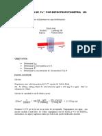 DETERMINACION DE  Fe+2  POR ESPECTROFOTOMETRIA   VIS 3