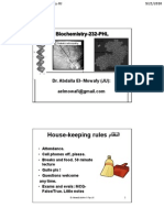 Lecture 1 Biochem 232 Cells