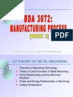 Week 3 - Theory of Machining