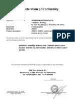 Ce Certificate UHS242