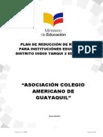 Plan de Reducción de Riesgos 2017-2018