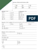 Exos - Calculs Sur Les Fractions - 4eme