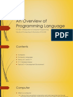 Ppt 1 - An Overview of Programming Language