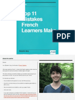 Top 11 Mistakes French Learners Make
